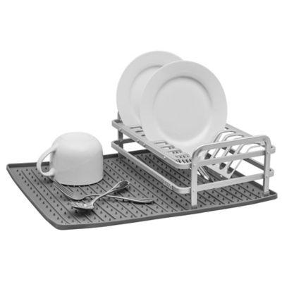 Ta Da Aluminum Dish Rack With DrySmart Mat