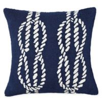 Liora Manne Ropes Indoor/Outdoor Square Throw Pillow in Navy