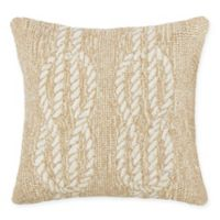 Liora Manne Ropes Indoor/Outdoor Square Throw Pillow in Neutral