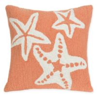 Liora Manne Starfish Indoor/Outdoor Square Throw Pillow in Orange