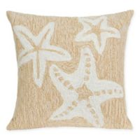 Liora Manne Starfish Indoor/Outdoor Square Throw Pillow in Natural