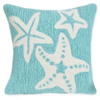 Liora Manne Starfish Indoor/Outdoor Square Throw Pillow in Blue