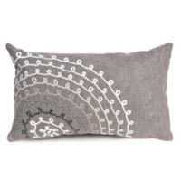 Liora Maine Ombre Threads Indoor/Outdoor Oblong Throw Pillow in Grey
