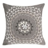 Liora Maine Ombre Threads Indoor/Outdoor Square Throw Pillow in Grey