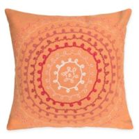 Liora Maine Ombre Threads Indoor/Outdoor Square Throw Pillow in Orange