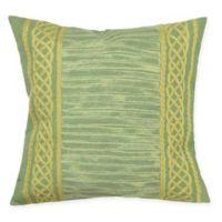 Liora Maine Celtic Stripe Indoor/Outdoor Square Throw Pillow in Sage