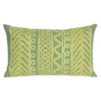 Liora Manne Celtic Grove Oblong Indoor/Outdoor Throw Pillow in Sage