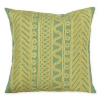 Liora Manne Celtic Grove Square Indoor/Outdoor Throw Pillow in Sage