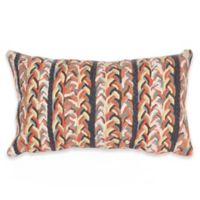 Liora Manne Braided Stripe Indoor/Outdoor Oblong Throw Pillow in Orange