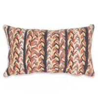 Liora Manne Braided Stripe Indoor/Outdoor Oblong Throw Pillow in Orange
