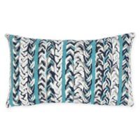 Liora Manne Braided Stripe Indoor/Outdoor Oblong Throw Pillow in Blue