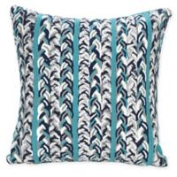 Liora Manne Braided Stripe Indoor/Outdoor Square Throw Pillow in Blue