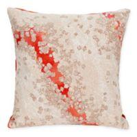 Liora Manne Elements Indoor/Outdoor Square Throw Pillow in Orange