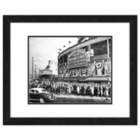Photo File Wrigley Field 22-Inch x 26-Inch Framed Wall Art