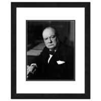 Photo File Winston Churchill 22-Inch x 26-Inch Framed Photo Wall Art