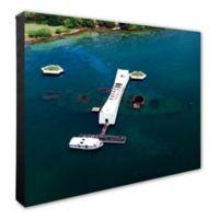 Photo File USS Arizona 24-Inch x 20-Inch Canvas Wall Art