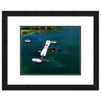 Photo File USS Arizona 26-Inch x 22-Inch Framed Photo Wall Art
