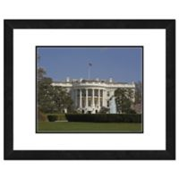 Photo File White House Framed Photo 16-Inch x 20-Inch Canvas Wall Art