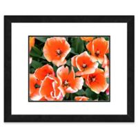 Large Orange Tulips 22-Inch x 26-Inch Framed Wall Art