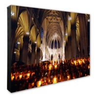 St. Patrick's Cathedral, New York 16-Inch x 20-Inch Canvas Wall Art