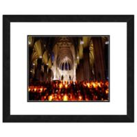 St. Patrick's Cathedral, New York 18-Inch x 22-Inch Framed Wall Art