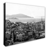 San Francisco 16-Inch x 20-Inch Canvas Wall Art in Black/White