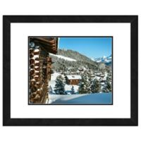 Snow Covered Cabins in the Mountains 18-Inch x 22-Inch Framed Wall Art