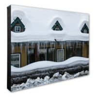 Snow Covered Home 20-Inch x 24-Inch Photo Canvas Wall Art