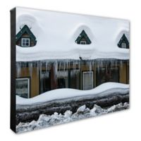 Snow Covered Home 16-Inch x 20-Inch Photo Canvas Wall Art