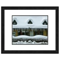 Snow Covered Home 18-Inch x 22-Inch Framed Wall Art