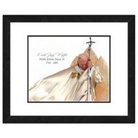Pop John Paul II Praying 18-Inch x 22-Inch Framed Wall Art