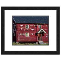 Red Barn 18-Inch x 22-Inch Framed Wall Art