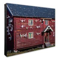 Red Barn 16-Inch x 20-Inch Canvas Wall Art