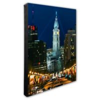 Philadelphia City View 20-Inch x 24-Inch Canvas Wall Art