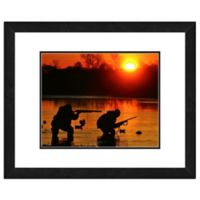 Hunters at Sunrise 18-Inch x 22-Inch Framed Canvas Wall Art