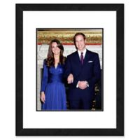 Princess Kate and William Engagement 22-Inch x 26-Inch Framed Wall Art