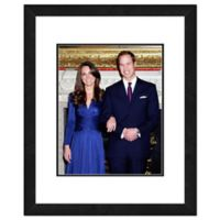 Princess Kate and William Engagement 18-Inch x 22-Inch Framed Wall Art