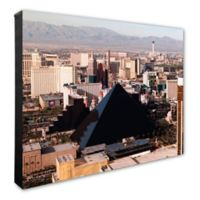 Photo File Las Vegas Skyline 20-Inch x 24-Inch Photo Canvas Wall Art