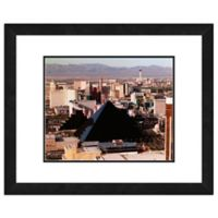 Photo File Las Vegas Skyline 18-Inch x 22-Inch Framed Photo Canvas Wall Art