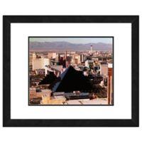 Photo File Las Vegas Skyline 22-Inch x 26-Inch Framed Photo Canvas Wall Art