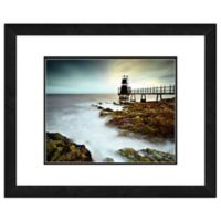 Lighthouse Photo 11-Inch x 14-Inch Framed Canvas Wall Art