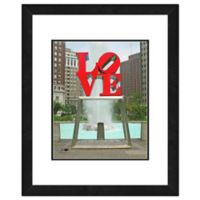 Photo File Philadelphia Love Statue 22-Inch x 26-Inch Framed Photo Wall Art