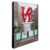 Photo File Philadelphia Love Statue 20-Inch x 24-Inch Photo Canvas Wall Art