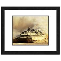 Photo File M1A1 Abrams United States Army Tank 22-Inch x 26-Inch Framed Photo Wall Art