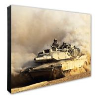 Photo File M1A1 Abrams United States Army Tank 20-Inch x 24-Inch Photo Canvas Wall Art
