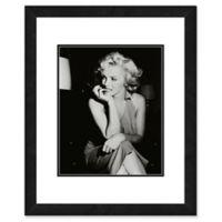 Marilyn Monroe Black and White Portrait 22-Inch x 26-Inch Framed Wall Art
