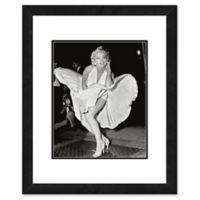 Marilyn Monroe Classic White Dress 22-Inch x 26-Inch Framed Wall Art