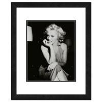 Marilyn Monroe Black and White Portrait 18-Inch x 22-Inch Framed Wall Art