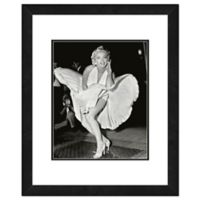 Marilyn Monroe Classic White Dress 18-Inch x 22-Inch Framed Wall Art