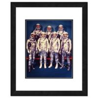 Photo File Mercury Astronauts 22-Inch x 18-Inch Framed Photo Wall Art